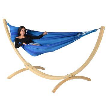 Wood & Dream Blue Hängematte mit Gestell