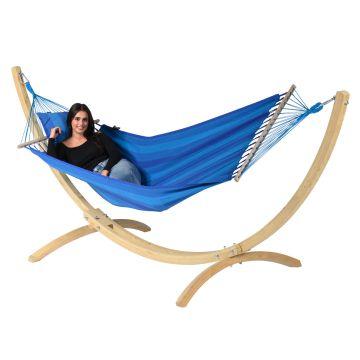 Wood & Relax Blue Hängematte mit Gestell